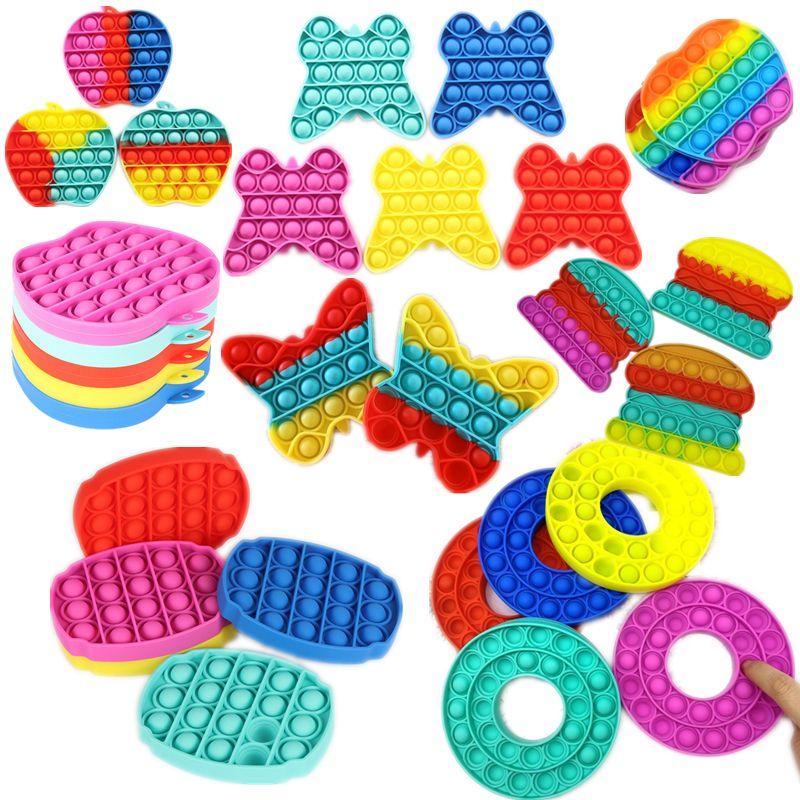 Bubble Poppers Poussez des jouets Fidget Sensory Simple Autisme Stress Stress Stress Stress Augmenter Focus Soft Squeeze Toy G11801