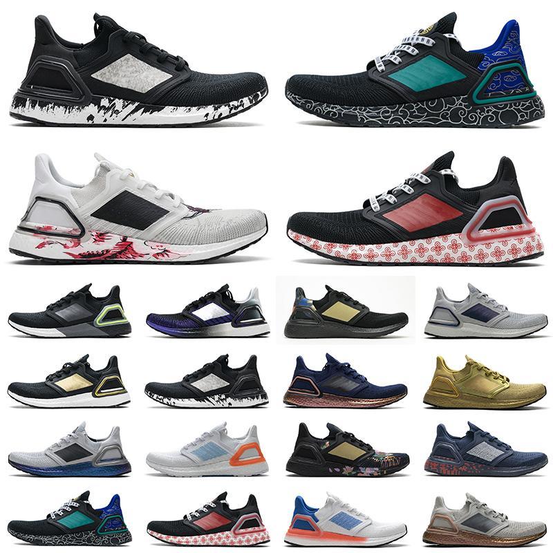 Adidas UltraBoost 20 Ultra Boost shoes Ub 6.0 Erkekler Koşu Ayakkabıları Ultra Çekirdek Üçlü Siyah Beyaz Altın Metalik Teknoloji Indigo Scarpe 2021 Kadın Tenis Eğitmenler Sneakers