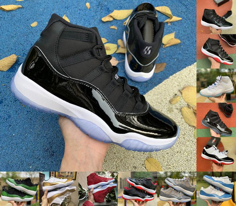 11 hombres mujeres zapatos de baloncesto 11s jubileo 25º aniversario playoffs criados zapatillas de deporte para hombre Concord 45 gorra y bata Platinum Tint Snake Light Trainer US 7-12