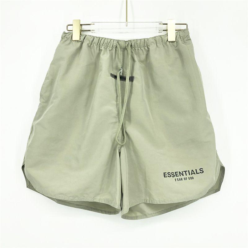 2021 Moda Verão EUA 3m Reflexivo Nylon Shorts Matcha Green Women Homens 6th High Street Middle Middle Calças