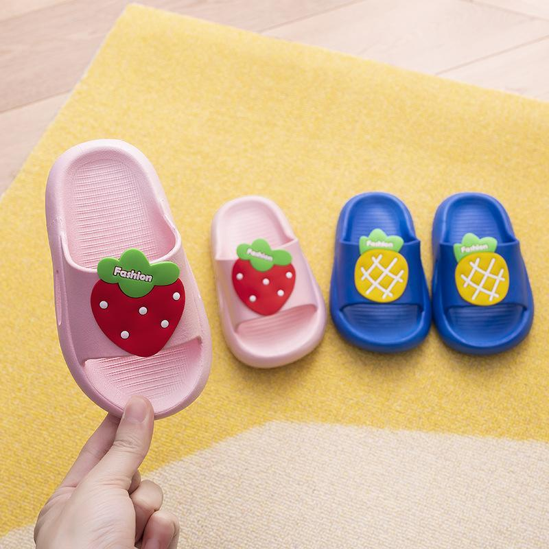 Slipper Children's Slippers Summer Cute Cartoon Fruit Pattern Bathroom Non-slip Indoor And Outdoor Wear Boys Girls Sandals FRX
