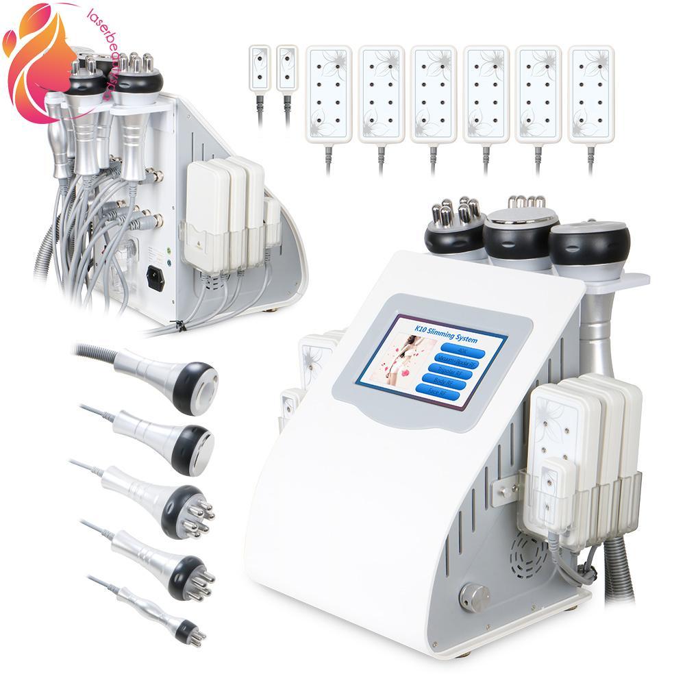 Ultrasonic Vacuum 6 in1 Cavitation RF Frequency Cellulite Body Slimming Skin Rejuvenation Machine
