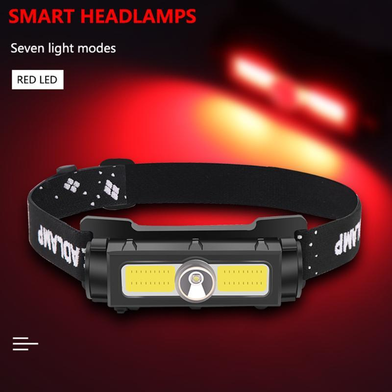 Headlamps LED XPG+COB Headlamp Headlight 7 Modes Waterproof Camping Outdoor Work Lights Zoom Lighting Lamp