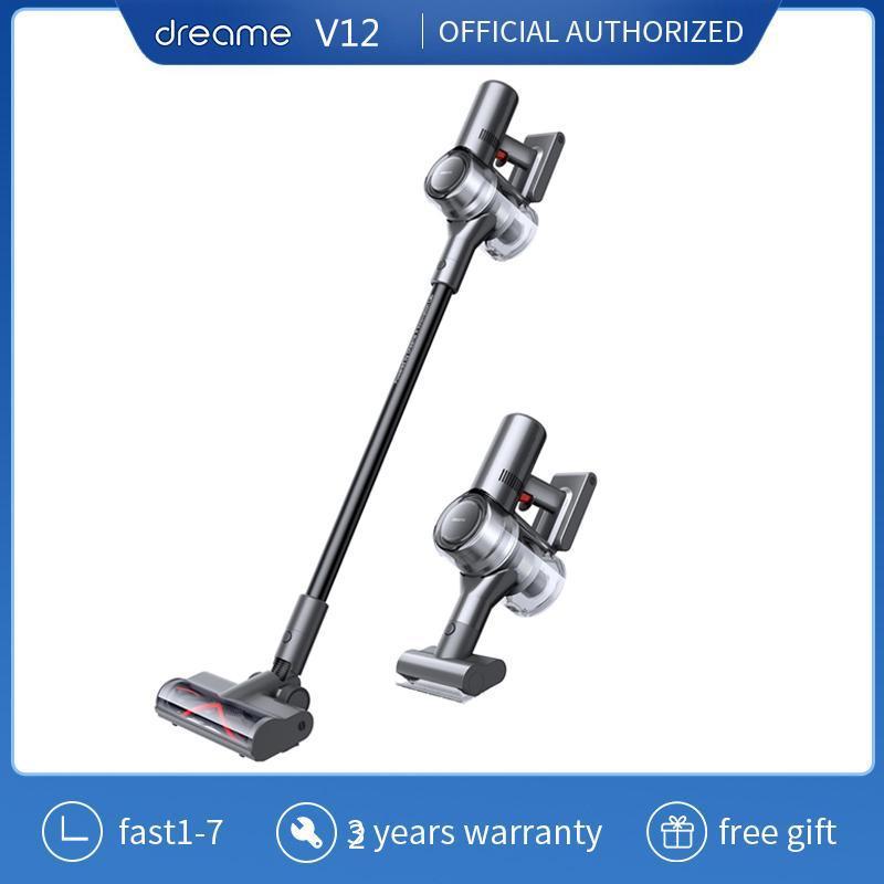 Dreame V12 Limpiador de vacío inalámbrico 27000PA 550W Succión potente LED HD Color Color Wireless Handheld Aspirator para limpiadores de casas
