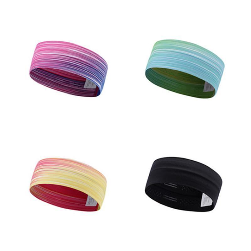Cor do gradiente de suor non slip slip sweatbands aperto de faixa tênis para ioga basquete running esporte cabelo cabeça de suor