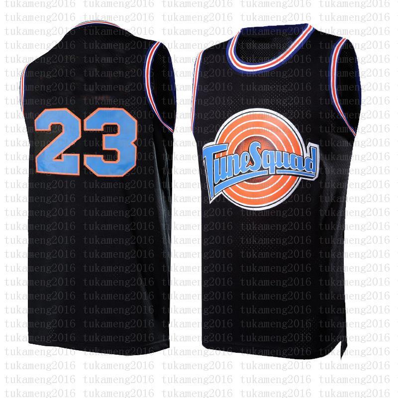 2021 NCAA Movie Space Jam Tune Squad 23 Michael Basketball Jersey Blue 1 Bugs Lebron 6 James 7 R.Runner! TAZ 10 Lola 1/3 Tweety أسود رخيصة