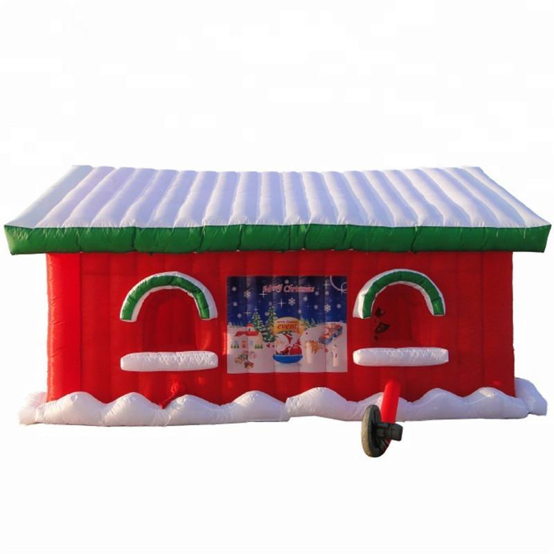 مخصصة عيد الميلاد المأوى نفخ سانتا كتهور، خيمة حفلات غرفة نادي منزل سانتا في نادي سانتا مع منفاخ للمملكة المتحدة كاليفورنيا usa