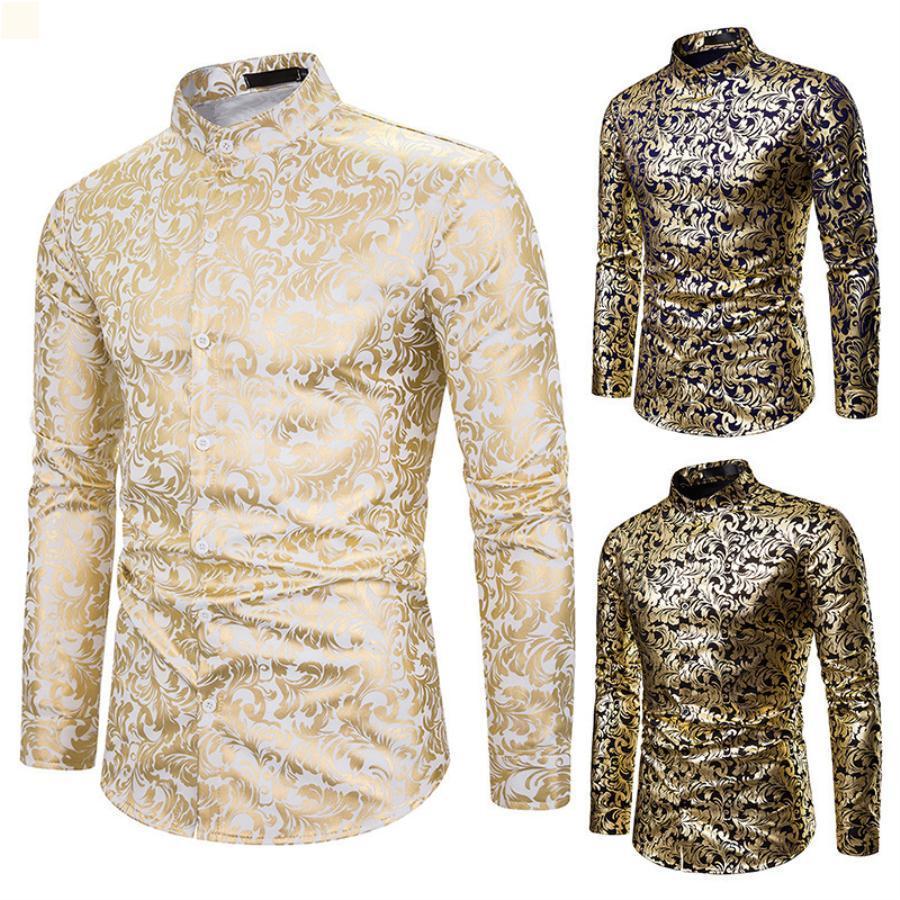 Мода футболки Homme Высокое качество Кнопка роскоши платье Летняя мужская одежда 2021 CamiSas de Hombre Walked старинная одежда с длинными рукавами мужчина урожая верхняя часть мужская OS222