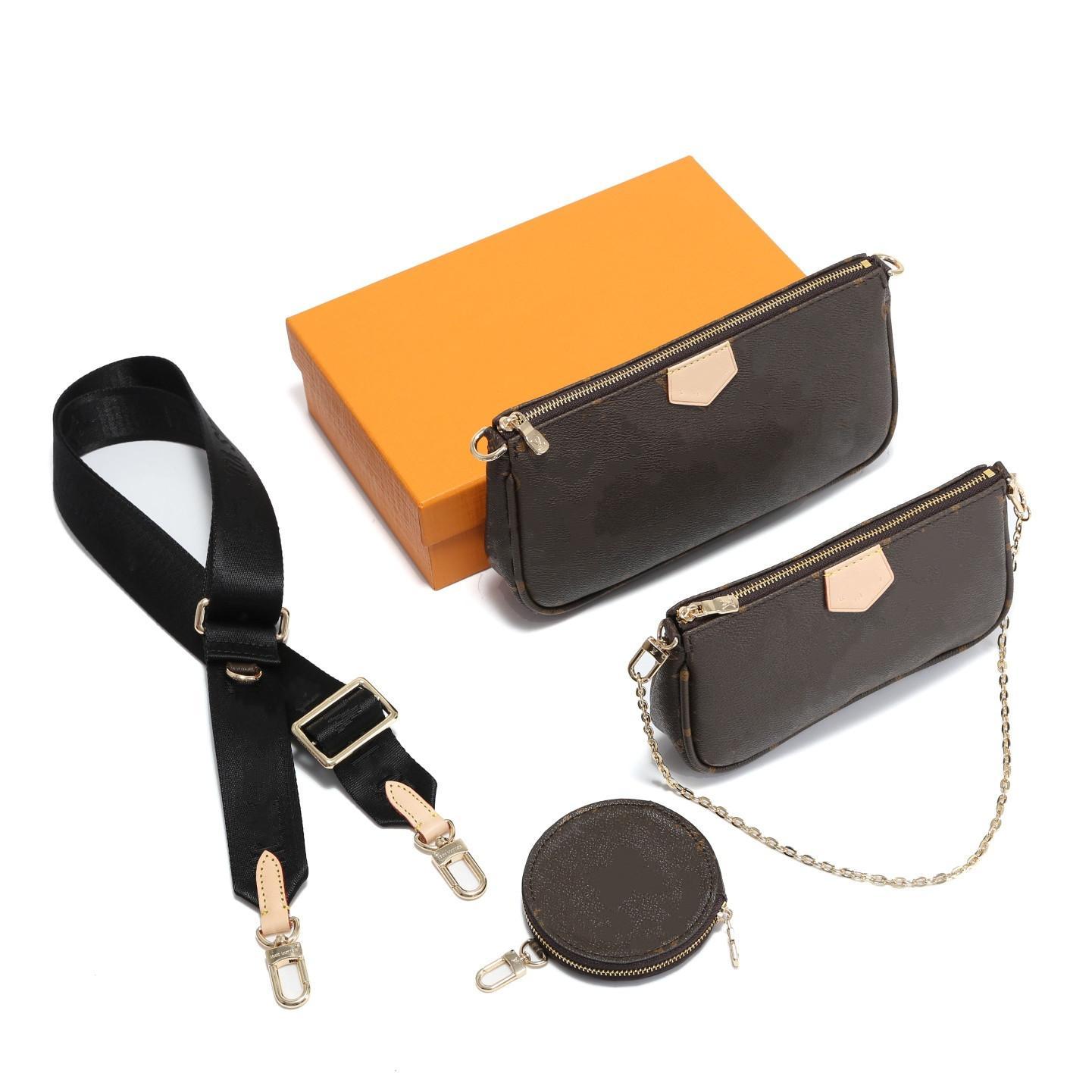 أعلى جودة مصغرة 3 قطعة مجموعة المرأة Luxes مصممون حقائب crossbody محفظة حقيبة الظهر حقائب اليد المحافظ بطاقة حامل حقيبة الكتف