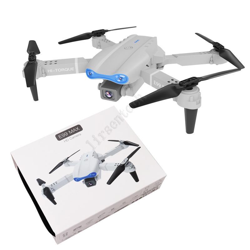 Alta prestazione Mini Pieghevole Drone CAM E99 Max Volare WiFi FPV Aereo 4K Full HD 1080p Dual Camera Fotografia Quadcopter