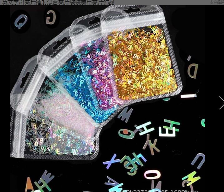 12 Colors Nail Art Glitter Sequins Laser Flame Decorations Polish Holographic Flakes Nail Glitter Ulture-Fine Spangles