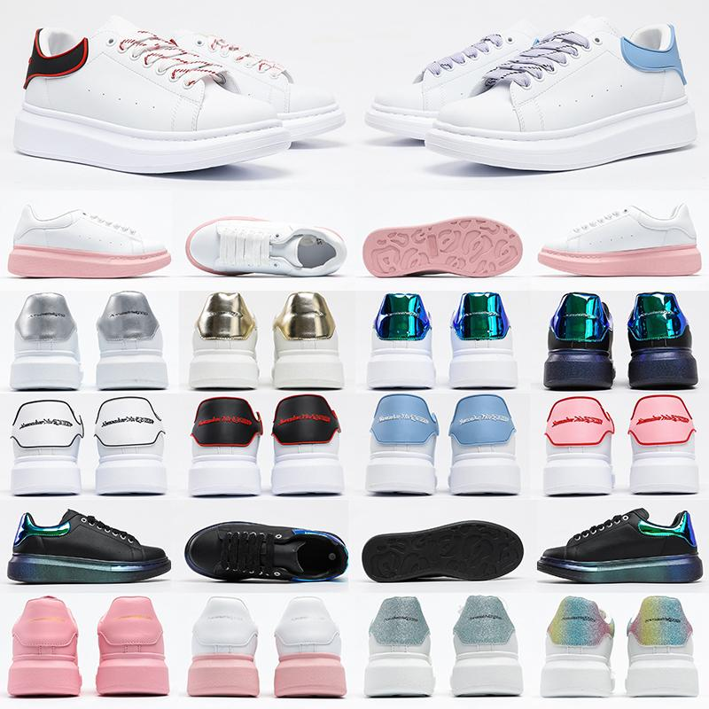 Alexander McQueen Oversized sneakers Platform shoes designer men women womens Leather Lace Up white mens espadrilles oversized flats casual espadrille flat sneakers