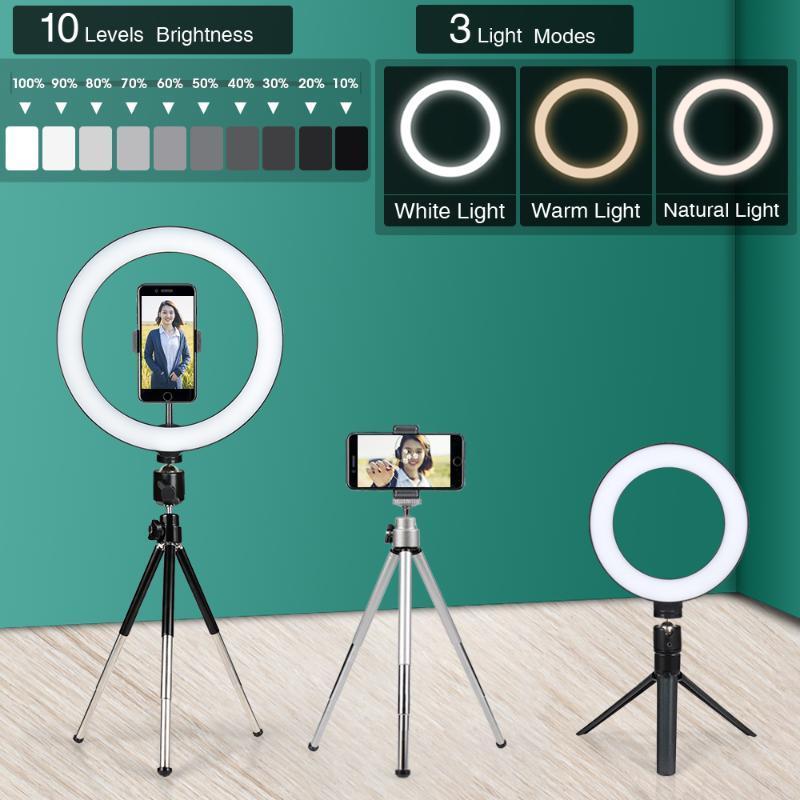 24 cm Pamuklu Demir Tripod Cep Telefonu Tutucu Aksesuarları Için Halka Lambası Işık Akıllı Telefon Kamera Selfie ST Tripodlar