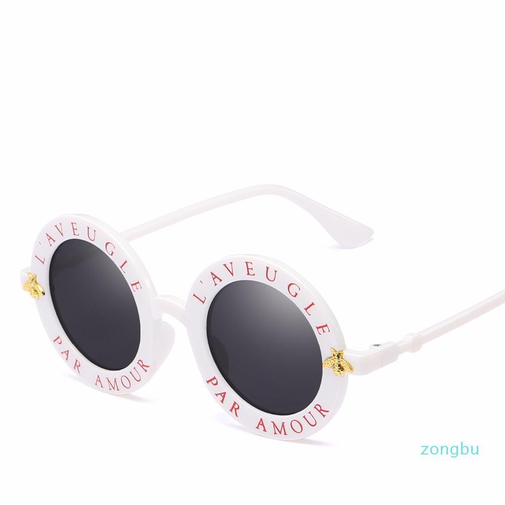 2021 Yeni Kişilik Moda ve Antik Harfler Tasarım 15981 Trendy Çerçeve, Kadın Yuvarlak Güneş Gözlüğü, Küçük Arı Gözlük Erkek Itolm