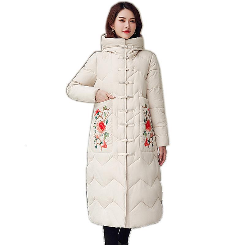 Плюс Размер Длинные Толстые Женские Теплые Женщины Женская Зимняя Куртка Waddded Down Enterwear Mujer Partas Parkas