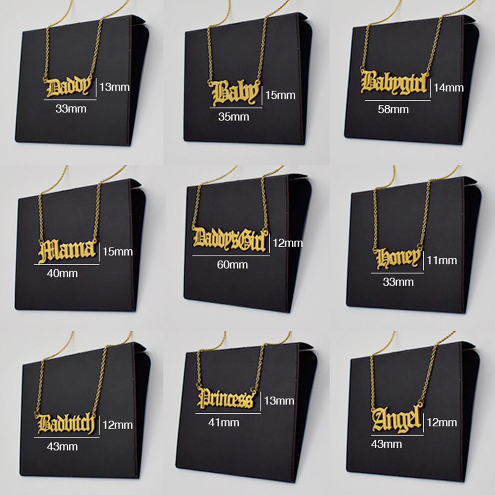 10 Antik Alfabe Kolye Kadınlar Için Titanyum Çelik Mektup Kolye Kolye Bayanlar Altın / Çelik / Gül-Altın 3 Renkler Eski İngilizce Bağlantı Zincirleri Takı Hediye