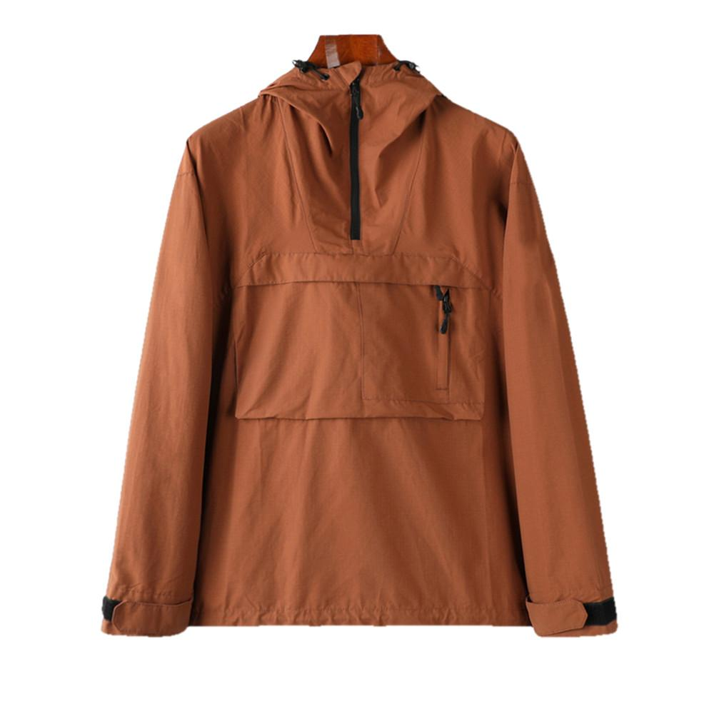 Chaqueta para hombre primavera abrigo de otoño viento con capucha con capucha media cremallera chaquetas estilista deportes rompevientos casual cremallera abrigos hombre ropa exterior ropa