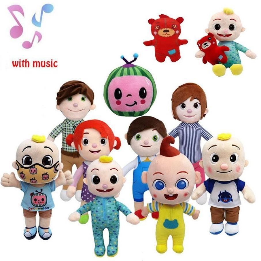 Tutto stile 15-33 cm giocattoli di cocomelon peluche con musica cartoon serie tv famiglia jj sorella fratello mamma e papà giocattolo giocattolo per bambini regalo felwed bambola fy7389