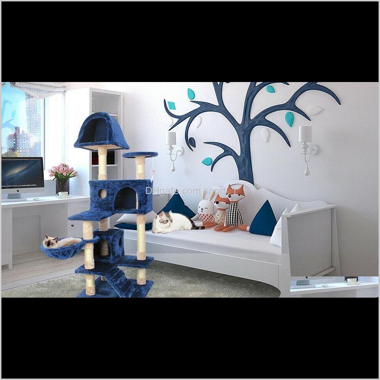 Carrierscrates Casas 51 Cat Tree Rayoring Condominio Torre Muebles Casa de mascotas Post Kitten X9GQX HI5NM