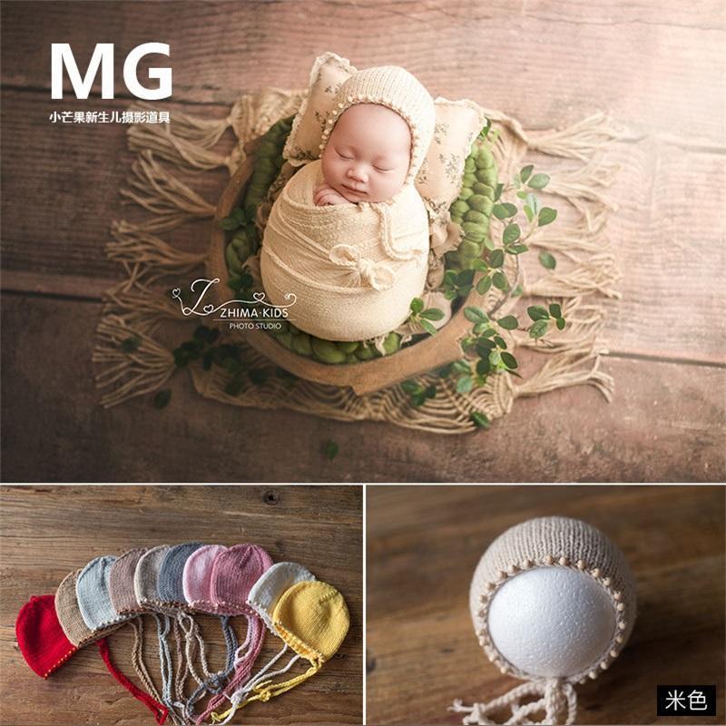 Newbornaphy Photography Реквизирует вязание новорожденного шляпа младенца фотостудия фотографии реквизиты CAP Baby фотографии реквизиты 1413 y2
