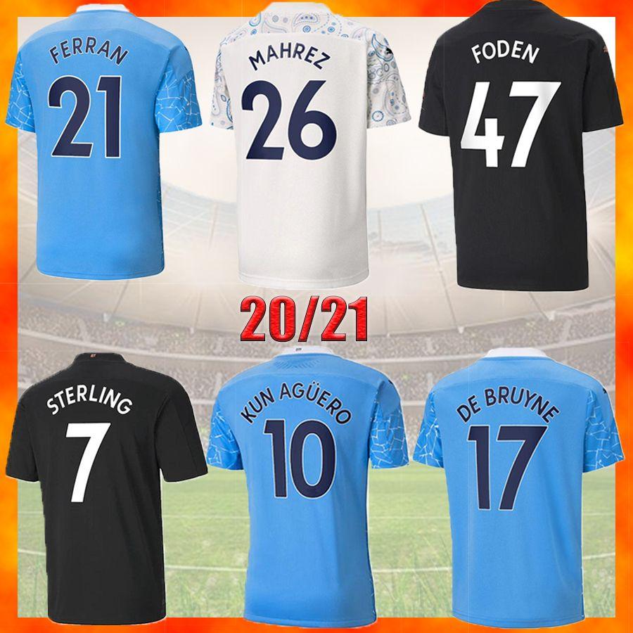 2021 2022 مانشستر لكرة القدم جيرسي البيت الثالث 20 22 22 22 ج. جيسس سيتي ستيرلينغ فيران دي بروين كون أجويرو لكرة القدم قمصان رجل موحدة الرجال + أطفال كيت