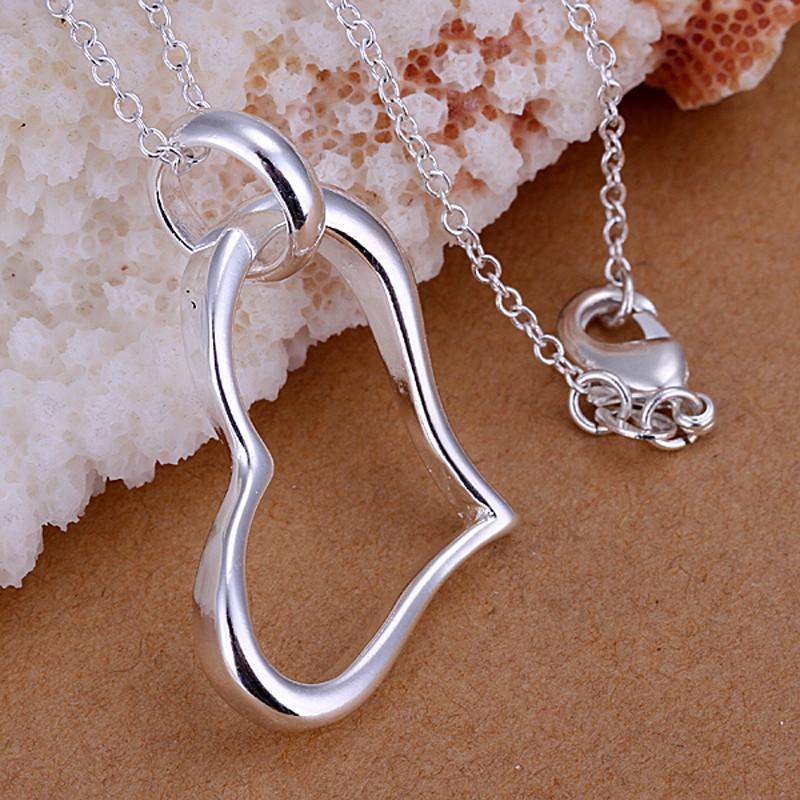 Collares colgantes 925 Sliver Joyería de moda Collar de corazón para mujeres Accesorios de fiesta diarios de moda Regalo de aniversario de boda