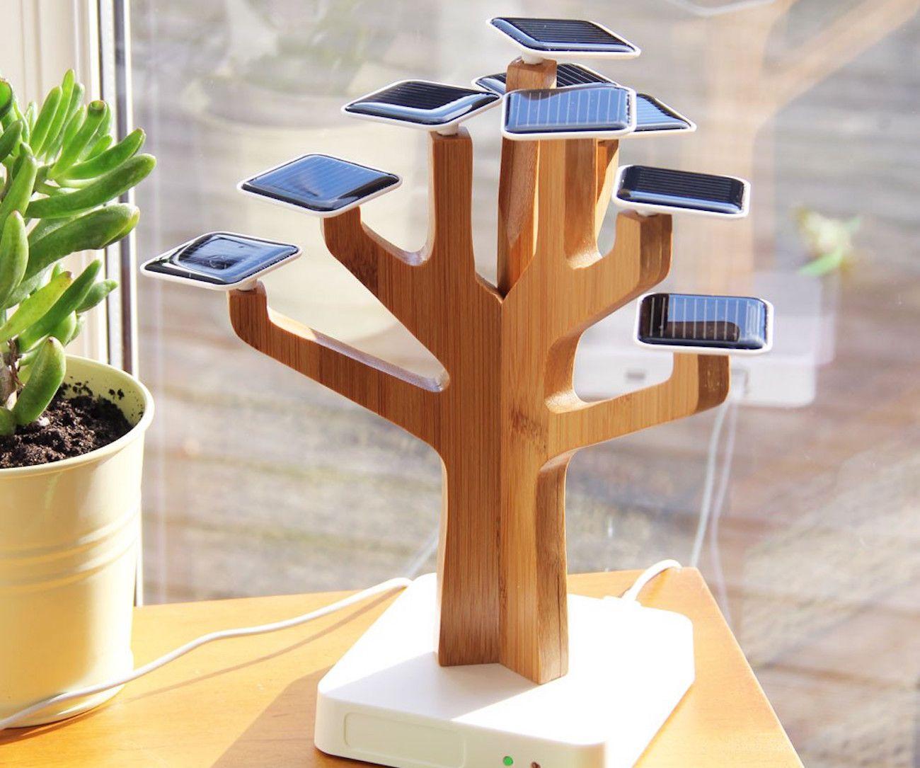Solar SunTree Batterien Ladegerät Power Bank für Mobiltelefone, kreative Solarstree Ladungslebensbaum Home Decoration Geschenkgrafik