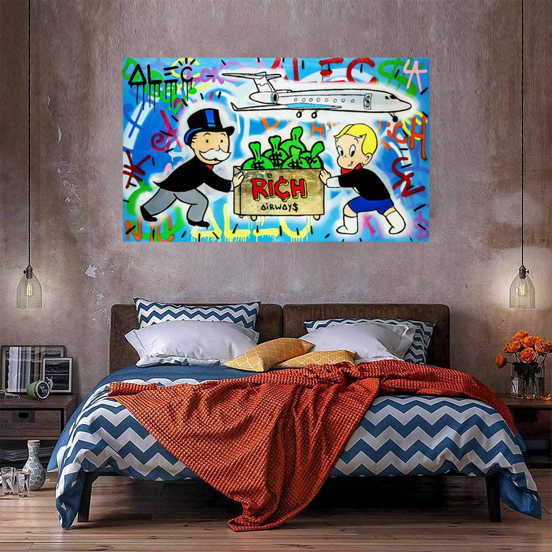 Rich Airways Home Decor Enorme pittura a olio su tela Handcrafts / HD Print Wall Art Immagini La personalizzazione è accettabile 21050830