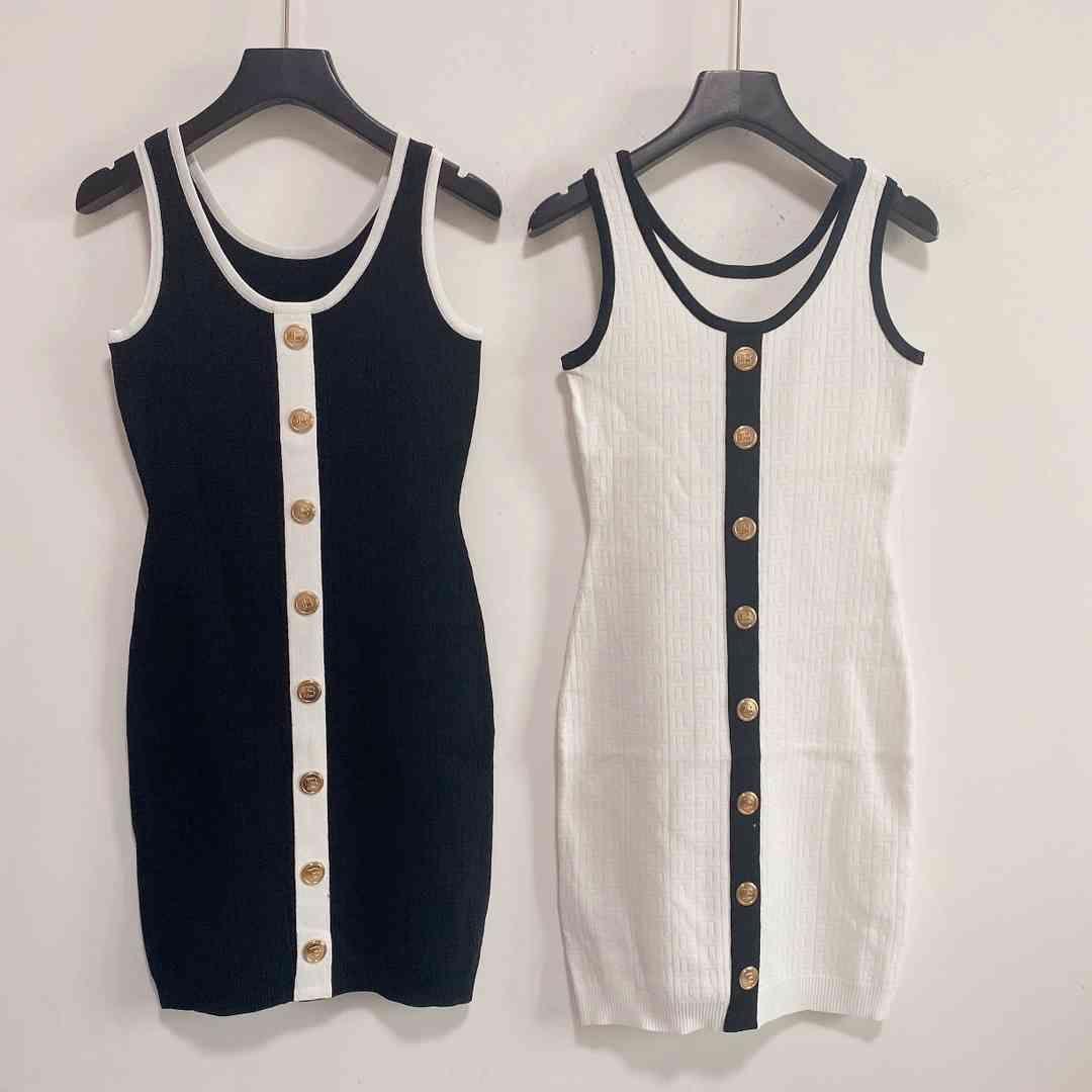 2021ss Marka Rahat Elbise Bayan Kolsuz İnce Elbiseler Büyük Kaliteli Kadın Tasarımcılar Giysileri El Yapımı Örme Yüksek Esneklik