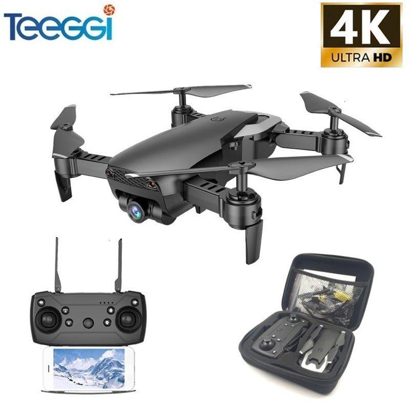 TEEGG M69 FPV Drone 4K con fotocamera wifi grandangolare 1080p HD Pieghevole RC mini quadcopter elicottero VS VISUO XS809HW E58 X12