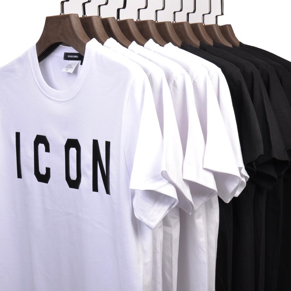 DSQICOND2 브랜드 아이콘 편지 여름 면화 부드러운 슬림 티셔츠 티 티 남성 여성용 코튼 야구 모자 스냅 백 야외 아빠 모자