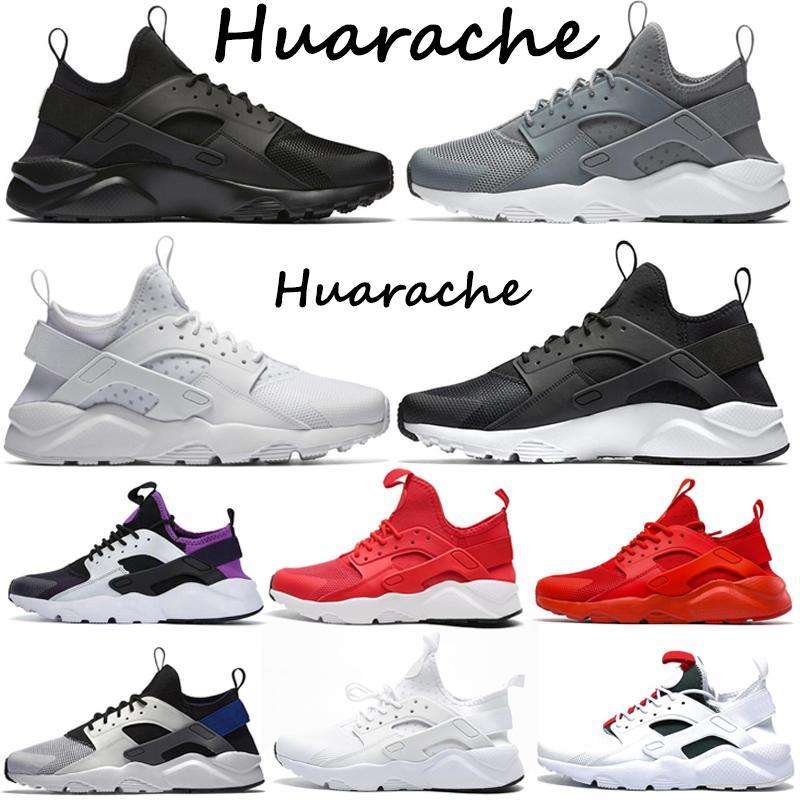 Venta al por mayor Huarache 4.0 Ultra Hombres Running Shoes Classical Triple Negro Blanco Rojo Gris Verde Oreo Hombre Para Mujer Deportes Zapatillas deportivas al aire libre