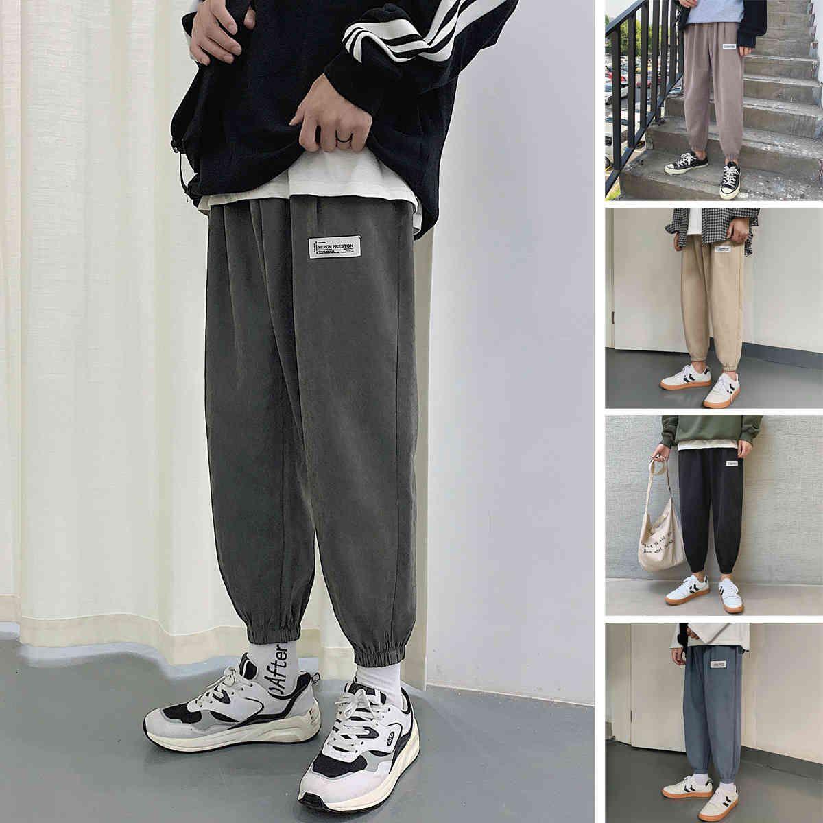 Perth People's 2021 Primavera New Hombres Pequeños Pequeños Pantalones Casuales Poder Pied Piedged Harem Tendencia Capris