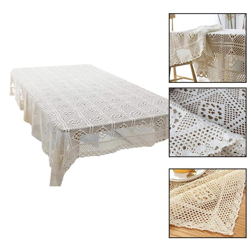 할로우 장식 테이블 천으로 레이스 식탁보 사각형 식탁보 다이닝 Macrame Mantel Mesa 커버