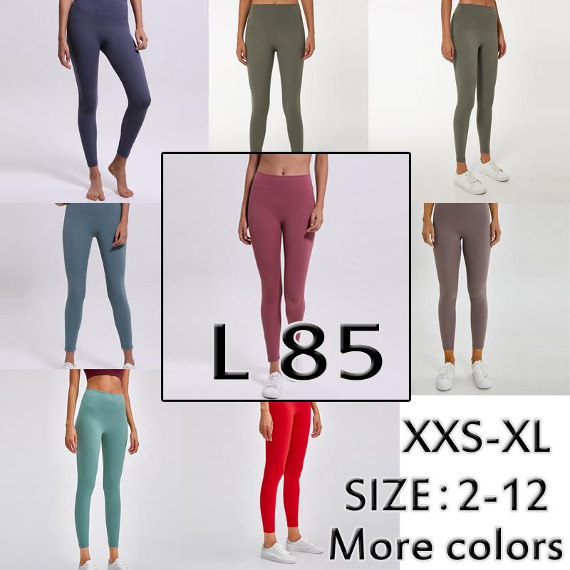 L 85 Katı Renk Kadın Avrupa Amerika Cilt Dostu Moda Yoga Pantolon Yüksek Bel L Hızlı Kuruyan Spor Spor Giyim Bayan Boyutu XXS-XL