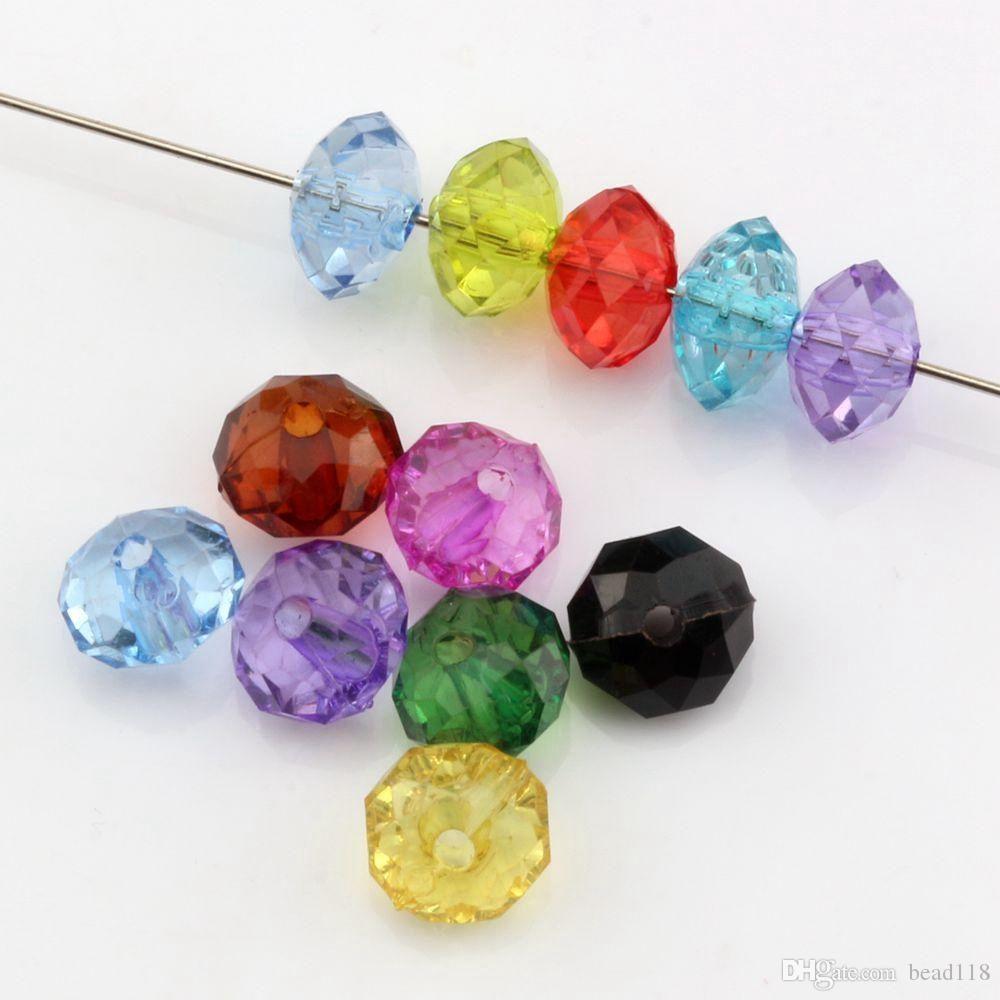 500pcs 6mm mistura cor acrílico transparente transparente espaçador espaçador para jóias fazendo bracelete colar diy acessório