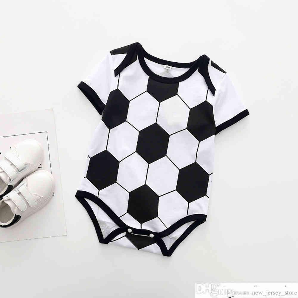 2019 новый футбольный мяч детские трикотажные изделия малыша хлопок футбольные рубашки боди детские классические малыши эвсебио мальчики Broadcolthsocker Jersey