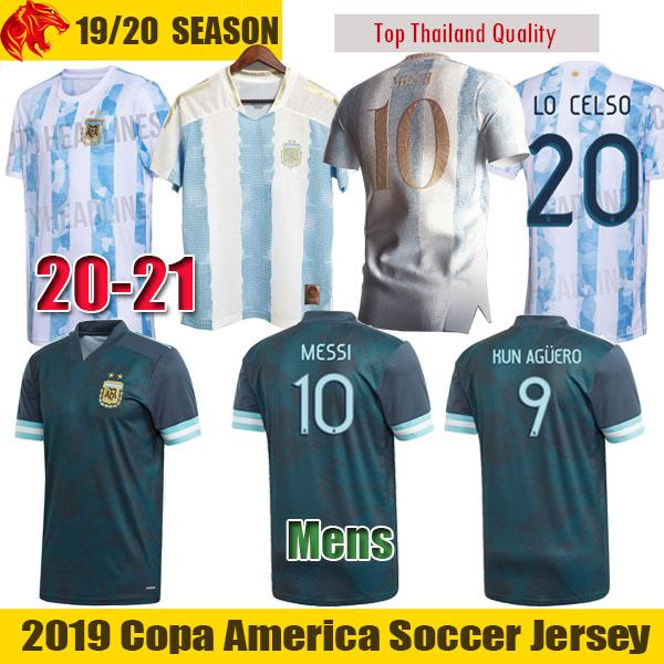 19 20 Argentine maillots de football 2019 20 Fans & Player Version Argentine MESSI Maillot LAUTARO KUN AGUERO Hommes Femmes Argentine Enfants