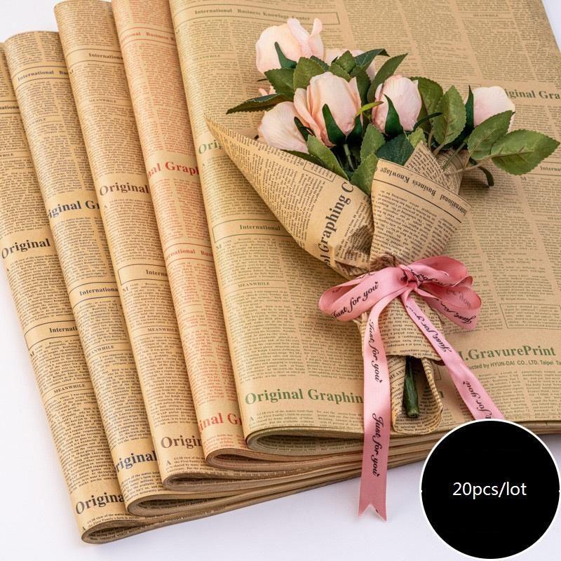 Papier fleuriste wrap fleur bouquet cadeau emballage papier d'emballage d'emballage pour anniversaire Valentin fête des mères Noël Thanksgiving