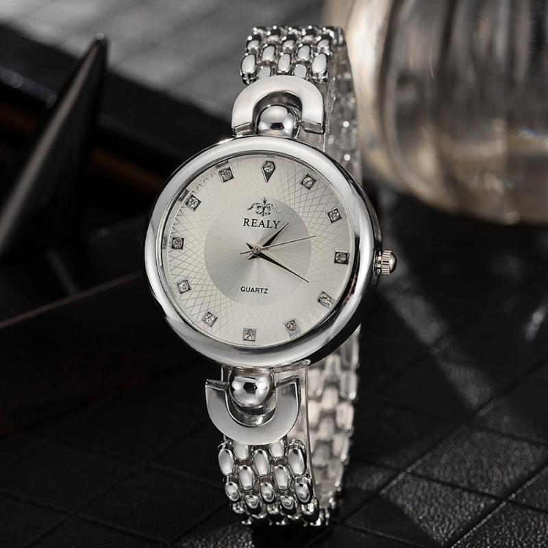 여성 시계 탑 라인 석 숙녀 팔찌 시계 우아한 Quartz 손목 시계 relogios feminino 시계 선물 손목 시계
