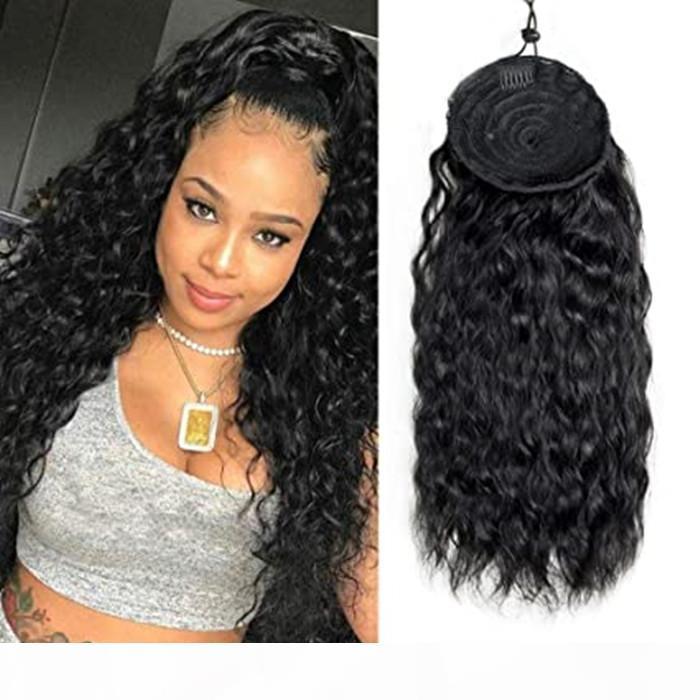 Ponrones de cheveux humides humides longues Multi Color humides de Femmes avec extension de cheveux de pince 160g, mail à queue de cheval de cordon naturel