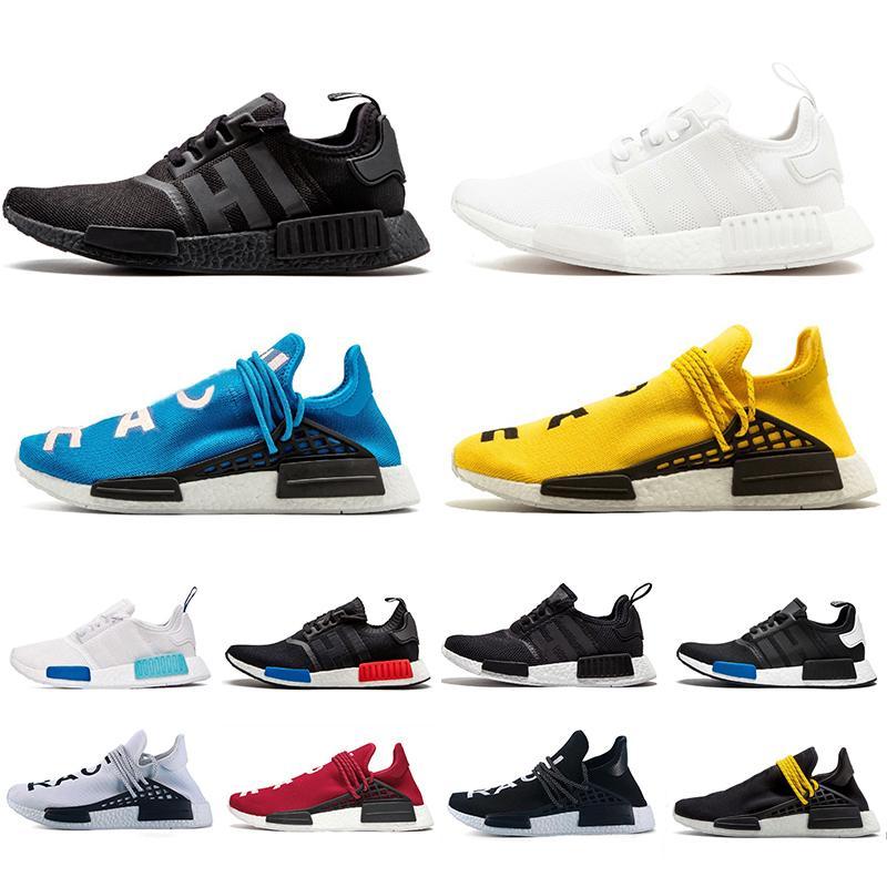 أحذية ركض رجالية من Adidas NMD R1 هيومان ريسنس فاريل ويليامز أوريو أوغ كور أسود أصفر أحمر ثلاثي أبيض أزرق توهج HU عداء أحذية رياضية للرجال والنساء أحذية رياضية عصرية 36-45