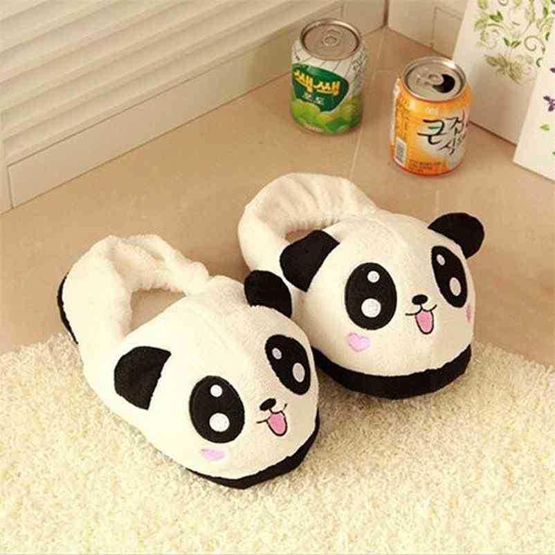 ThinkSo Mignon Panda Yeux Yeux Femmes Chaussons Mignonnes Belle dessin animé Home Chaussures Soft Soft 210325