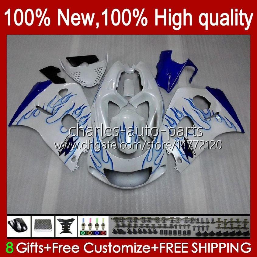 Bodywork Kit For SUZUKI SRAD GSXR 600CC 750CC 750 600 CC 96-00 Body 22No.33 GSXR-750 GSXR600 1996 1997 1998 1999 2000 GSXR750 GSX-R600 96 97 98 99 00 Fairing white blue