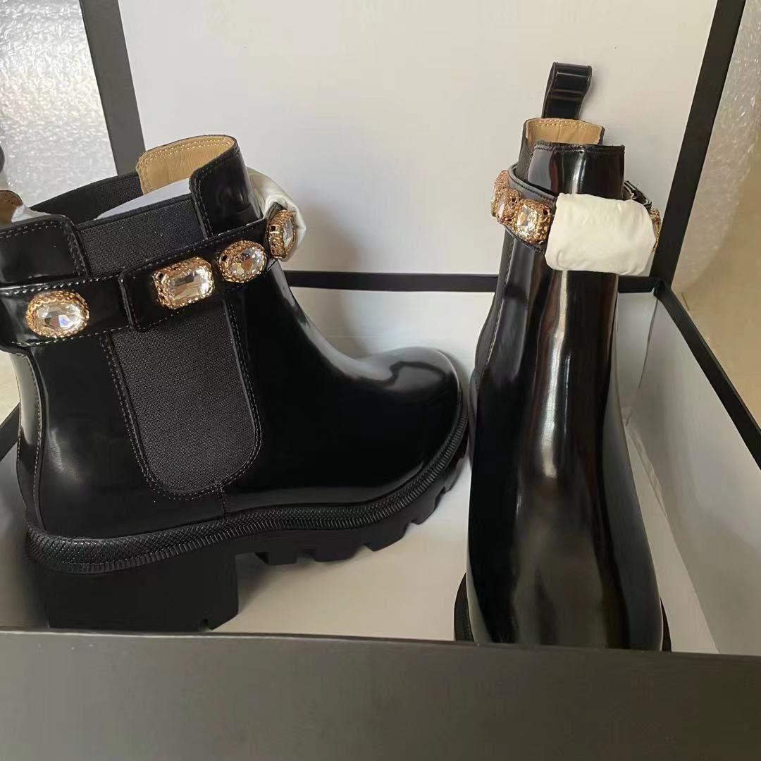 Сапоги женская обувь дизайнер роскошные каблуки зимняя ботинка женщина Martin ботинки каблуки каблука кожа женщины рыцарь работы безопасности мотоцикл дождь мода снег быстрое качество
