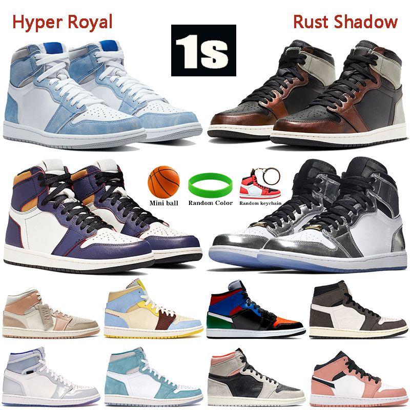 أعلى جودة 1 ثانية أحذية كرة السلة hyper الملكي الصدأ الظل الذئب رمادي الشراع الصبار منتصف ميلان الرجال المدربين النساء أحذية رياضية