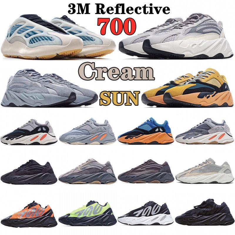 kanye wave casual shoes 700 v2 sun Amber Cream bright Cyan v1 MNVN Teal vanta Mauve salt salte Geode Inertia Analog Tephra west Kyanite runner sneakers