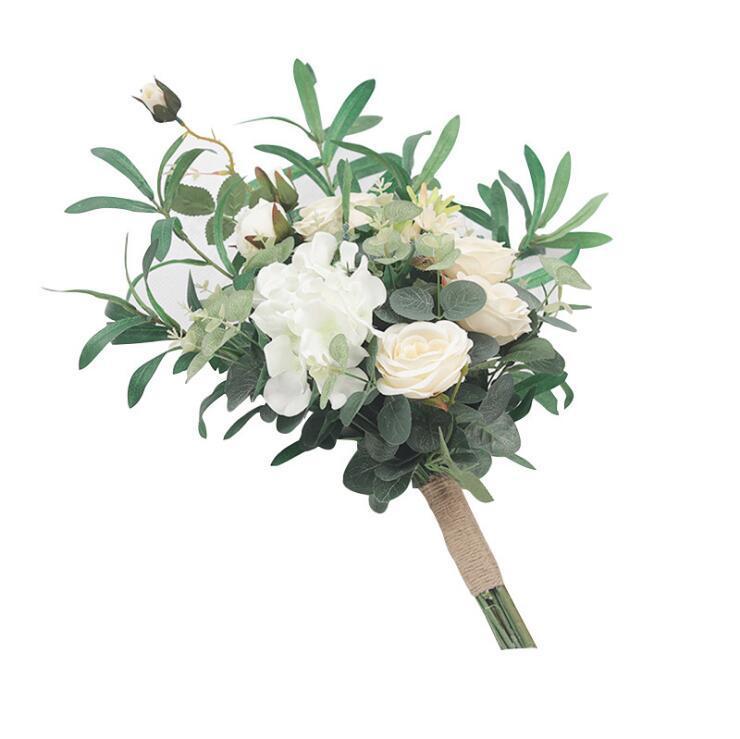 Wedding flowers Bridal Bouquets Bride Hand Holding Silk Flower party Supplies