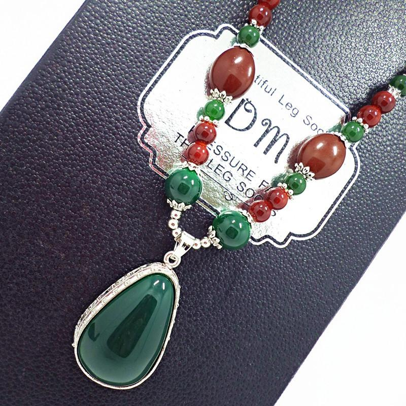 Fashion Boho Jewelry Natural Stones With Semi Precious Pendant Necklaces Women Bohemia Necklace for Women Girls Jewelry