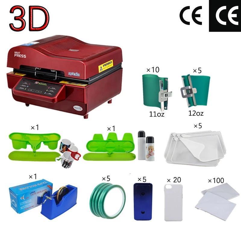 3D SUBLIMATION Vakuummaschine, Süße Sublimations / Wärmepressmaschine, Becher / T-Shirt / Handy-Case-Drucker, Tasse / Digitaldruckmaschine